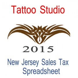 New Jersey Tattoo Studio Accounts & Sales Tax Spreadsheet for 2015 year end