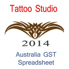 Australia Tattoo Studio Bookkeeping & GST Spreadsheet for 2014 year end