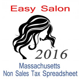Massachusetts Non-Sales Tax Hairdresser Bookkeeping Spreadsheets for 2016 year end
