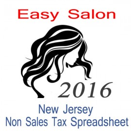 New Jersey Non-Sales Tax Hairdresser Bookkeeping Spreadsheets for 2016 year end