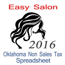 Oklahoma Non-Sales Tax Hairdresser Bookkeeping Spreadsheets for 2016 year end