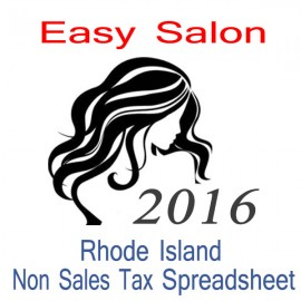 Rhode Island Non-Sales Tax Hairdresser Bookkeeping Spreadsheets for 2016 year end