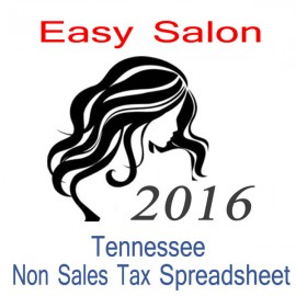 Tennessee Non-Sales Tax Hairdresser Bookkeeping Spreadsheets for 2016 year end