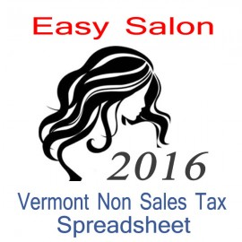 Vermont Non-Sales Tax Hairdresser Bookkeeping Spreadsheets for 2016 year end