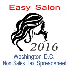 Washington D.C. Non-Sales Tax Hairdresser Bookkeeping Spreadsheets for 2016 year end