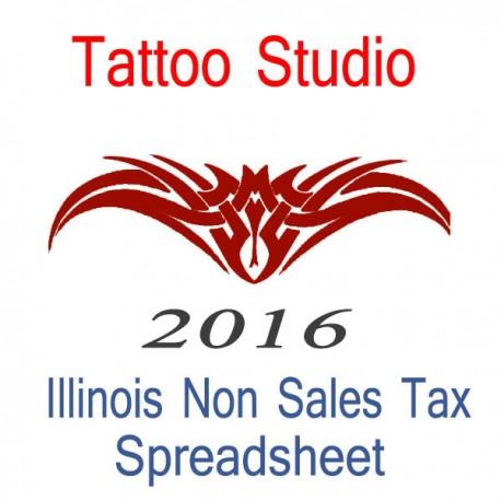 Illinois non sales tax tattoo artist bookkeeping for Tattoo shops in illinois