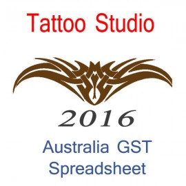 Australia Tattoo Studio Bookkeeping & GST Spreadsheet for 2016 year end