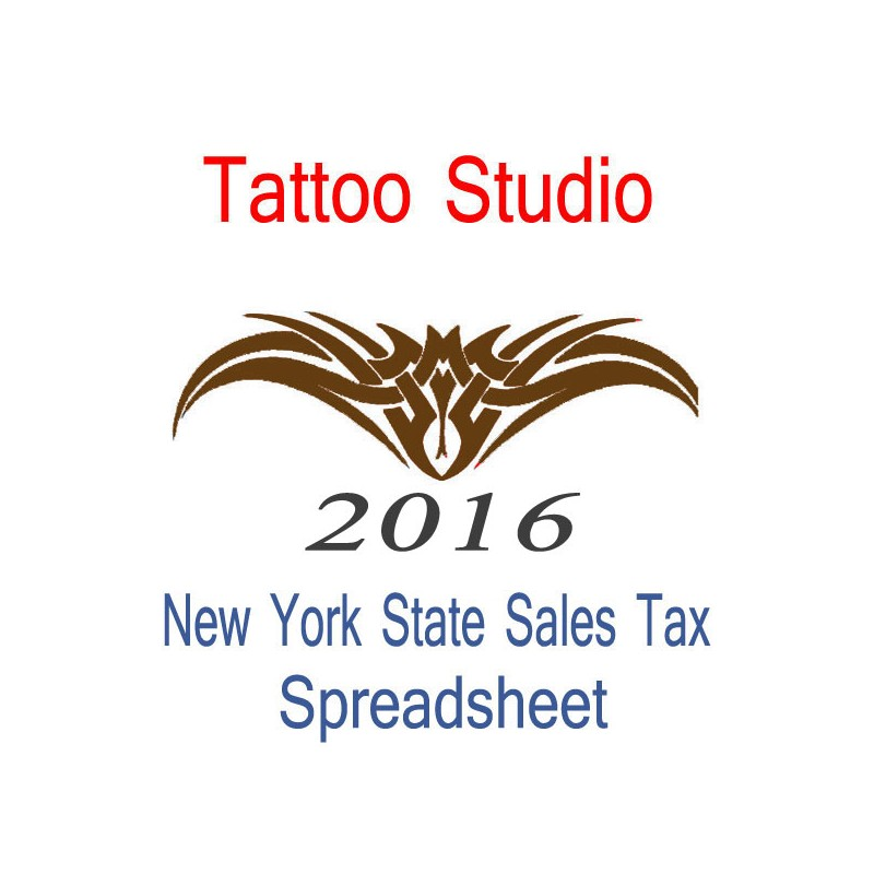 new york state tattoo studio accounts sales tax spreadsheet 2016 year