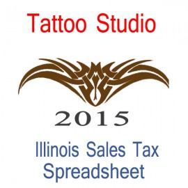 Illinois Tattoo Studio Accounts & Sales Tax Spreadsheet for 2015 year end