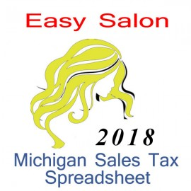 Michigan Salon Accounts & Sales Tax Spreadsheet for 2018 year end