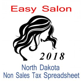 North Dakota Non-Sales Tax Hairdresser Bookkeeping Spreadsheets for 2018 year end