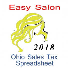 Ohio Salon Accounts & Sales Tax Spreadsheet for 2018 year end