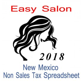 New Mexico Non-Sales Tax Hairdresser Bookkeeping Spreadsheets for 2018 year end
