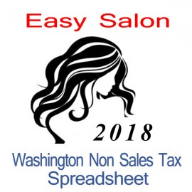 Washington Non-Sales Tax Hairdresser Bookkeeping Spreadsheets for 2018 year end
