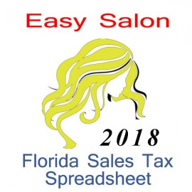 Florida Salon Accounts & Sales Tax Spreadsheet for 2018 year end