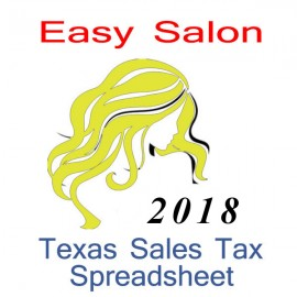 Texas Salon Accounts & Sales Tax Spreadsheet for 2018 year end