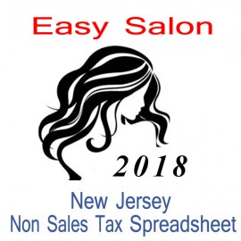 New Jersey Non-Sales Tax Hairdresser Bookkeeping Spreadsheets for 2018 year end