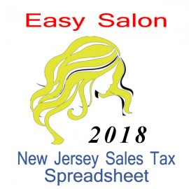 New Jersey Salon Accounts & Sales Tax Spreadsheet for 2018 year end