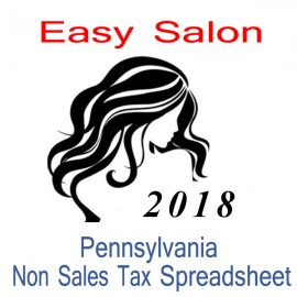 Pennsylvania Non-Sales Tax Hairdresser Bookkeeping Spreadsheets for 2018 year end
