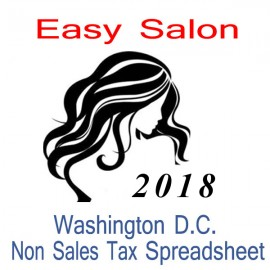 Washington D.C. Non-Sales Tax Hairdresser Bookkeeping Spreadsheets for 2018 year end