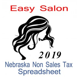 Nebraska Non-Sales Tax Hairdresser Bookkeeping Spreadsheets for 2019 year end