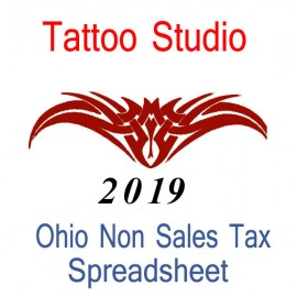 Ohio Non-Sales Tax Hairdresser Bookkeeping Spreadsheets for 2019 year end