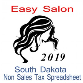 South Dakota Non-Sales Tax Hairdresser Bookkeeping Spreadsheets for 2019 year end
