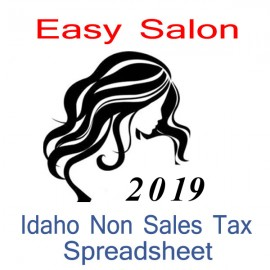 Idaho Non-Sales Tax Hairdresser Bookkeeping Spreadsheets for 2019 year end