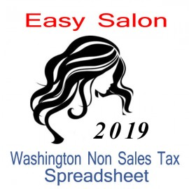 Washington Non-Sales Tax Hairdresser Bookkeeping Spreadsheets for 2019 year end