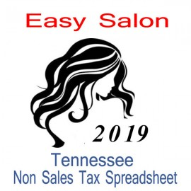 Tennessee Non-Sales Tax Hairdresser Bookkeeping Spreadsheets for 2019 year end