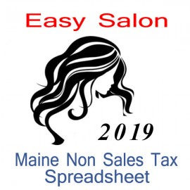 Maine Non-Sales Tax Hairdresser Bookkeeping Spreadsheets for 2019 year end
