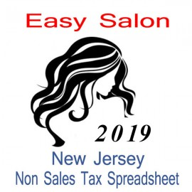 New Jersey Non-Sales Tax Hairdresser Bookkeeping Spreadsheets for 2019 year end