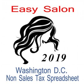 Washington D.C. Non-Sales Tax Hairdresser Bookkeeping Spreadsheets for 2019 year end