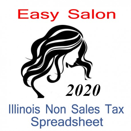 Illinois Non-Sales Tax Hairdresser Bookkeeping Spreadsheets for 2020 year end