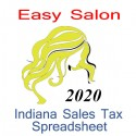Indiana Salon Accounts & Sales Tax Spreadsheet for 2020 year end