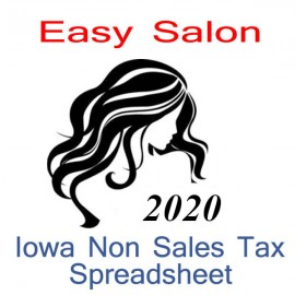 Iowa Non-Sales Tax Hairdresser Bookkeeping Spreadsheets for 2020 year end