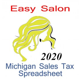 Michigan Salon Accounts & Sales Tax Spreadsheet for 2020 year end