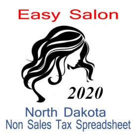 North Dakota Non-Sales Tax Hairdresser Bookkeeping Spreadsheets for 2020 year end