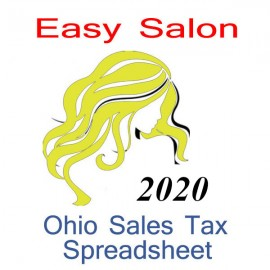 Ohio Salon Accounts & Sales Tax Spreadsheet for 2020 year end