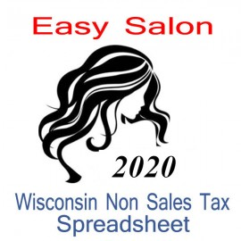 Wisconsin Non-Sales Tax Hairdresser Bookkeeping Spreadsheets for 2020 year end
