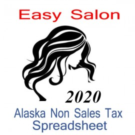 Alaska Non-Sales Tax Hairdresser Bookkeeping Spreadsheets for 2020 year end