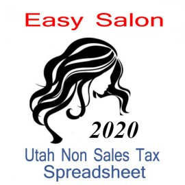 Utah Non-Sales Tax Hairdresser Bookkeeping Spreadsheets for 2020 year end