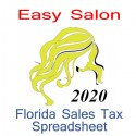 Florida Salon Accounts & Sales Tax Spreadsheet for 2020 year end