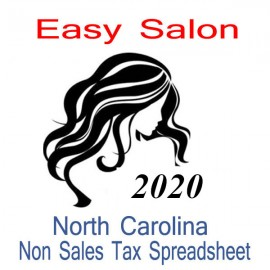 North Carolina Non-Sales Tax Hairdresser Bookkeeping Spreadsheets for 2020 year end