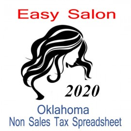 Oklahoma Non-Sales Tax Hairdresser Bookkeeping Spreadsheets for 2020 year end