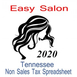 Tennessee Non-Sales Tax Hairdresser Bookkeeping Spreadsheets for 2020 year end