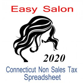Connecticut Non-Sales Tax Hairdresser Bookkeeping Spreadsheets for 2020 year end