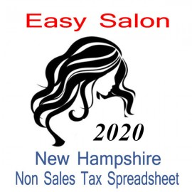 New Hampshire Non-Sales Tax Hairdresser Bookkeeping Spreadsheets for 2020 year end
