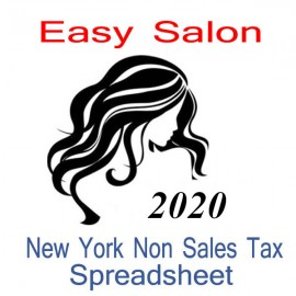 New York Non-Sales Tax Hairdresser Bookkeeping Spreadsheets for 2020 year end