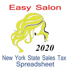 New York State Salon Accounts & Sales Tax Spreadsheet for 2020 year end